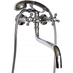 Смеситель для ванной REMER  RR 04EX CROSS cer