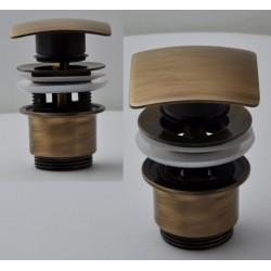 """Донный клапан Remer RR905SCC2 VO бронза click-clack 1,1/4"""" с переливом, короткий стакан"""